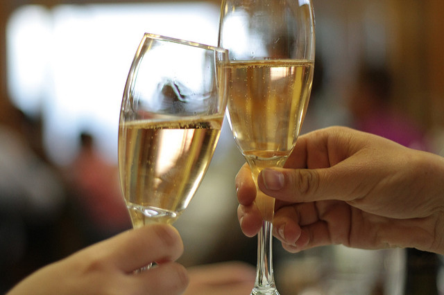 Ring in the New Year With Happy Hour Drinks and a Champagne Toast at the Driftwood Kitchen NYE Party